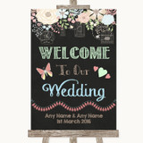 Shabby Chic Chalk Welcome To Our Wedding Customised Wedding Sign
