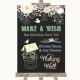 Shabby Chic Chalk Wishing Well Message Customised Wedding Sign