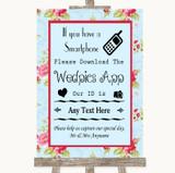 Shabby Chic Floral Wedpics App Photos Customised Wedding Sign