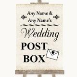 Shabby Chic Ivory Card Post Box Customised Wedding Sign