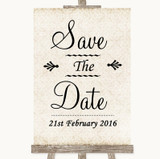 Shabby Chic Ivory Save The Date Customised Wedding Sign