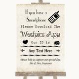 Shabby Chic Ivory Wedpics App Photos Customised Wedding Sign