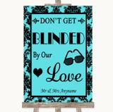 Tiffany Blue Damask Don't Be Blinded Sunglasses Customised Wedding Sign