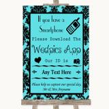 Tiffany Blue Damask Wedpics App Photos Customised Wedding Sign
