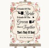 Vintage Roses Friends Of The Bride Groom Seating Customised Wedding Sign