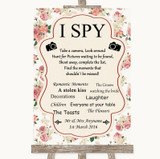 Vintage Roses I Spy Disposable Camera Customised Wedding Sign