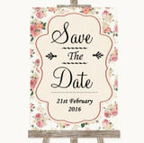 Vintage Roses Save The Date Customised Wedding Sign
