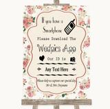 Vintage Roses Wedpics App Photos Customised Wedding Sign