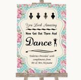 Vintage Shabby Chic Rose Toiletries Comfort Basket Customised Wedding Sign