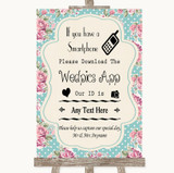 Vintage Shabby Chic Rose Wedpics App Photos Customised Wedding Sign