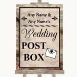 Vintage Card Post Box Customised Wedding Sign