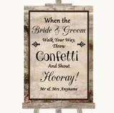 Vintage Confetti Customised Wedding Sign