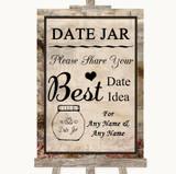 Vintage Date Jar Guestbook Customised Wedding Sign