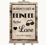 Vintage Don't Be Blinded Sunglasses Customised Wedding Sign