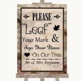 Vintage Fingerprint Tree Instructions Customised Wedding Sign