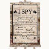 Vintage I Spy Disposable Camera Customised Wedding Sign