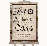 Vintage Let Them Eat Cake Customised Wedding Sign