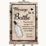 Vintage Message In A Bottle Customised Wedding Sign