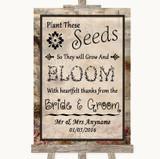 Vintage Plant Seeds Favours Customised Wedding Sign