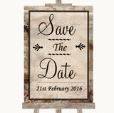 Vintage Save The Date Customised Wedding Sign