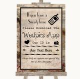 Vintage Wedpics App Photos Customised Wedding Sign