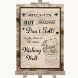 Vintage Wishing Well Message Customised Wedding Sign