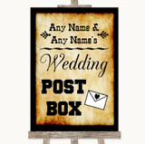Western Card Post Box Customised Wedding Sign