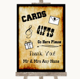 Western Cards & Gifts Table Customised Wedding Sign