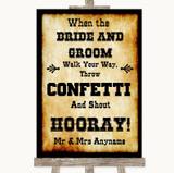 Western Confetti Customised Wedding Sign