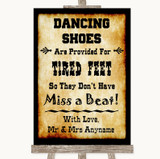 Western Dancing Shoes Flip-Flop Tired Feet Customised Wedding Sign