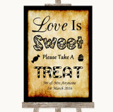 Western Love Is Sweet Take A Treat Candy Buffet Customised Wedding Sign