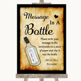 Western Message In A Bottle Customised Wedding Sign