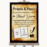 Western Photo Guestbook Friends & Family Customised Wedding Sign