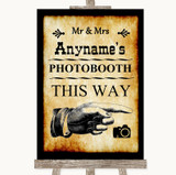 Western Photobooth This Way Right Customised Wedding Sign