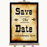 Western Save The Date Customised Wedding Sign