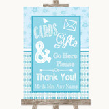 Winter Blue Cards & Gifts Table Customised Wedding Sign