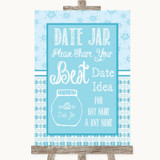Winter Blue Date Jar Guestbook Customised Wedding Sign