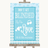 Winter Blue Don't Be Blinded Sunglasses Customised Wedding Sign
