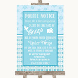 Winter Blue Don't Post Photos Facebook Customised Wedding Sign