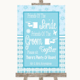Winter Blue Friends Of The Bride Groom Seating Customised Wedding Sign