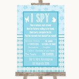 Winter Blue I Spy Disposable Camera Customised Wedding Sign