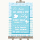 Winter Blue Loved Ones In Heaven Customised Wedding Sign