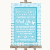Winter Blue Photo Guestbook Friends & Family Customised Wedding Sign