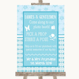 Winter Blue Pick A Prop Photobooth Customised Wedding Sign