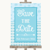 Winter Blue Save The Date Customised Wedding Sign