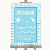 Winter Blue Welcome To Our Engagement Party Customised Wedding Sign