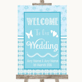 Winter Blue Welcome To Our Wedding Customised Wedding Sign