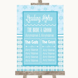Winter Blue Who's Who Leading Roles Customised Wedding Sign