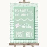 Winter Green Card Post Box Customised Wedding Sign