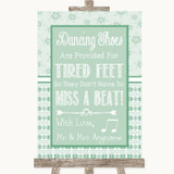 Winter Green Dancing Shoes Flip-Flop Tired Feet Customised Wedding Sign